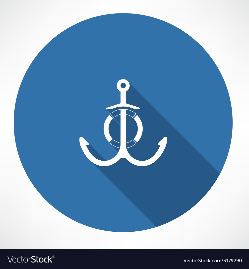 Anchor and life buoy vector | Price: 1 Credit (USD $1)