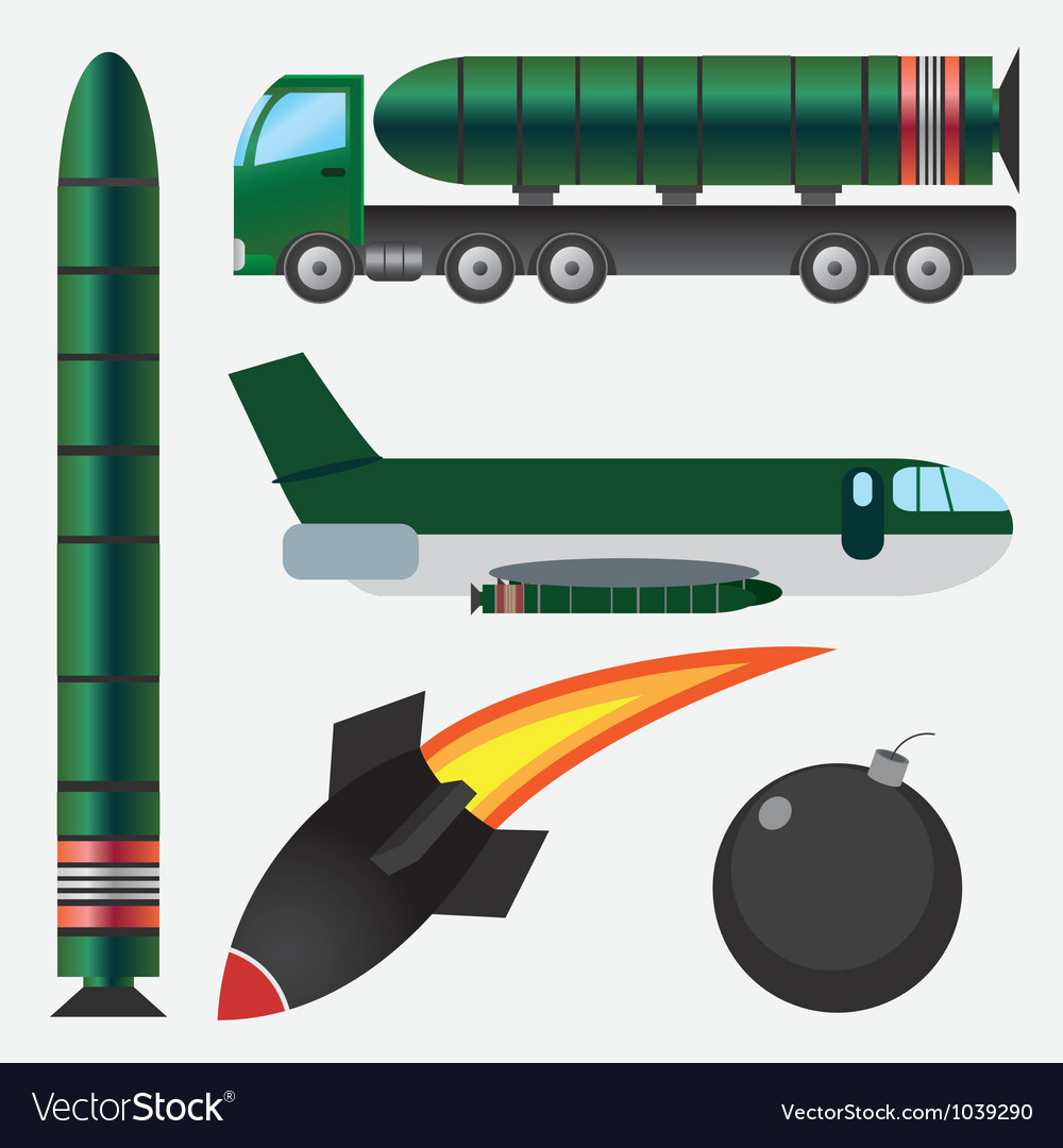 Bombs and missiles vector | Price: 1 Credit (USD $1)