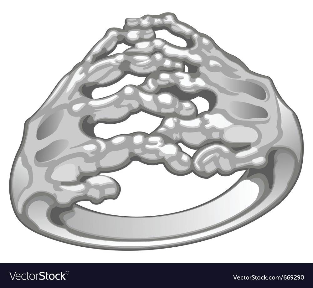 Bony hands ring vector | Price: 1 Credit (USD $1)