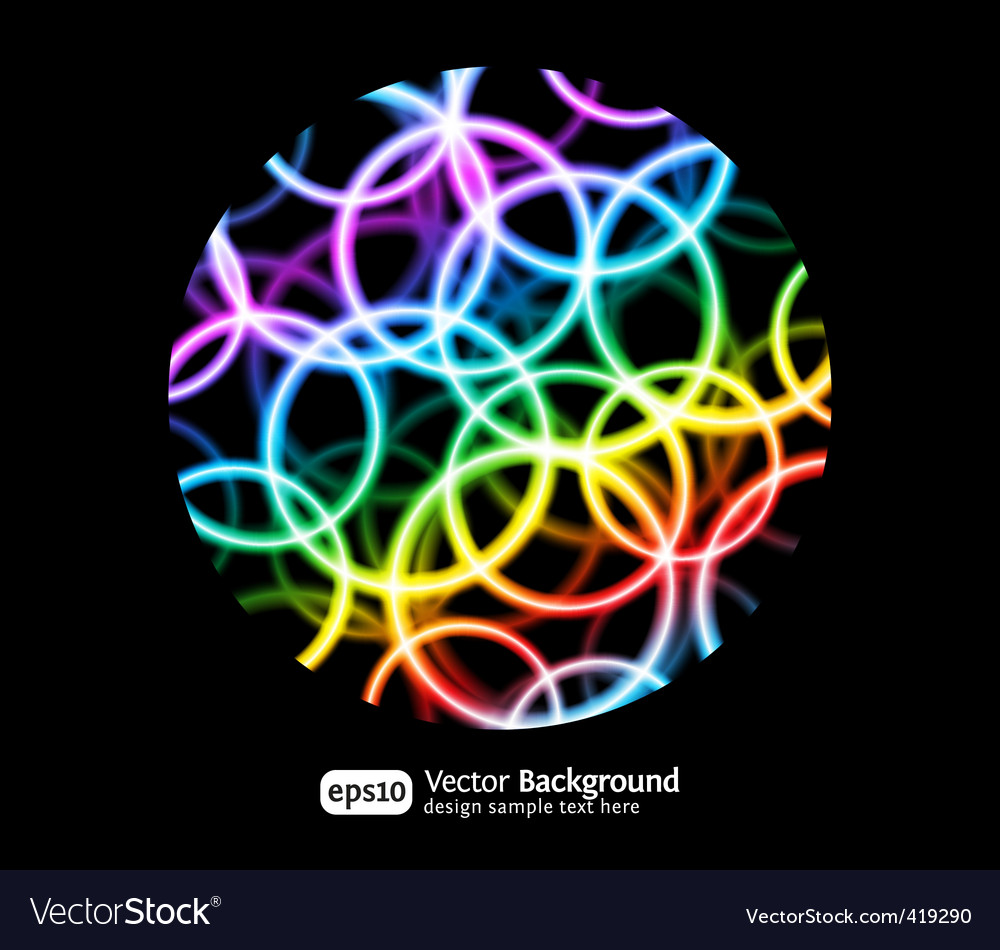 Bright round background vector | Price: 1 Credit (USD $1)