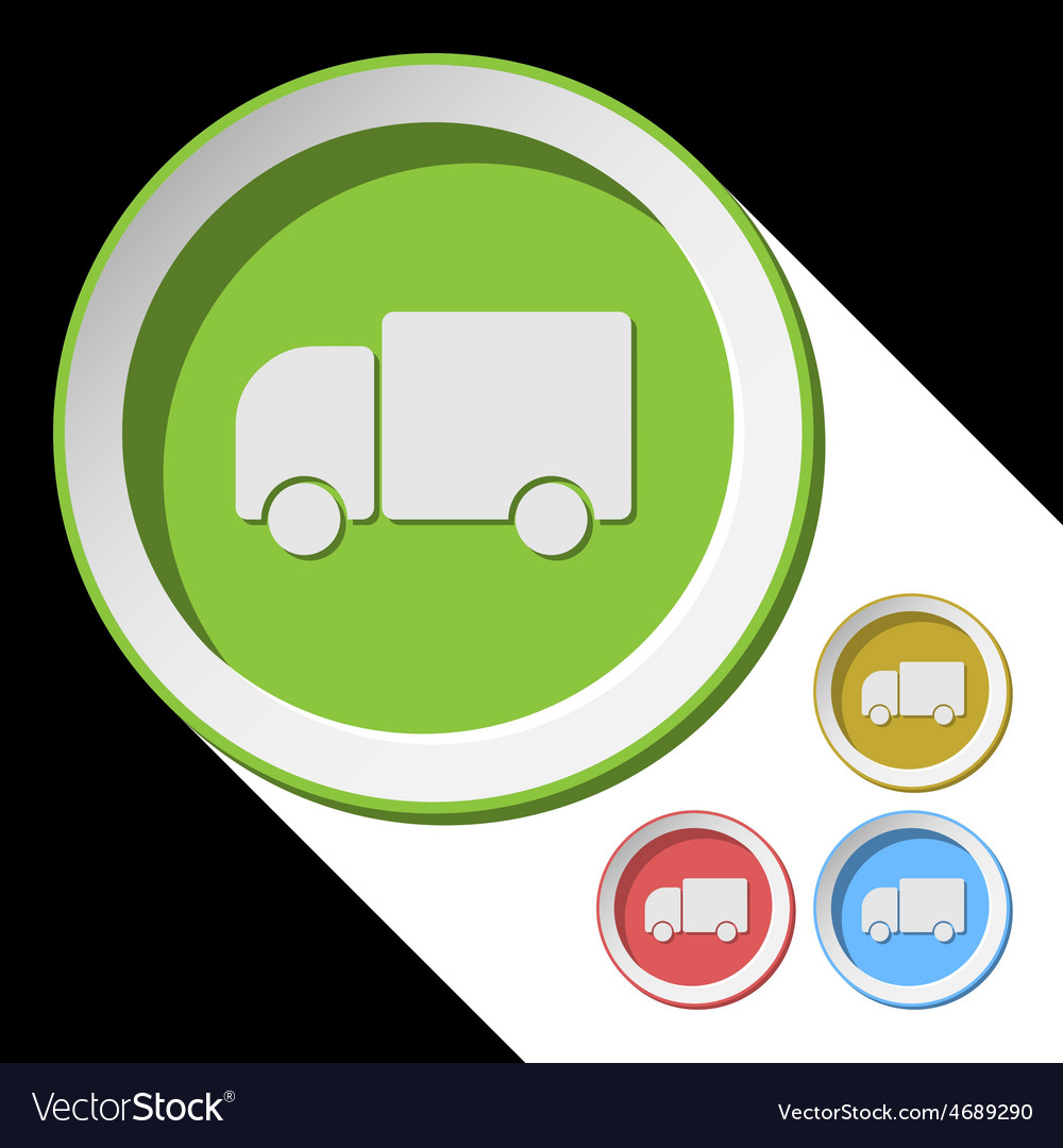 Color icons with lorry car vector | Price: 1 Credit (USD $1)