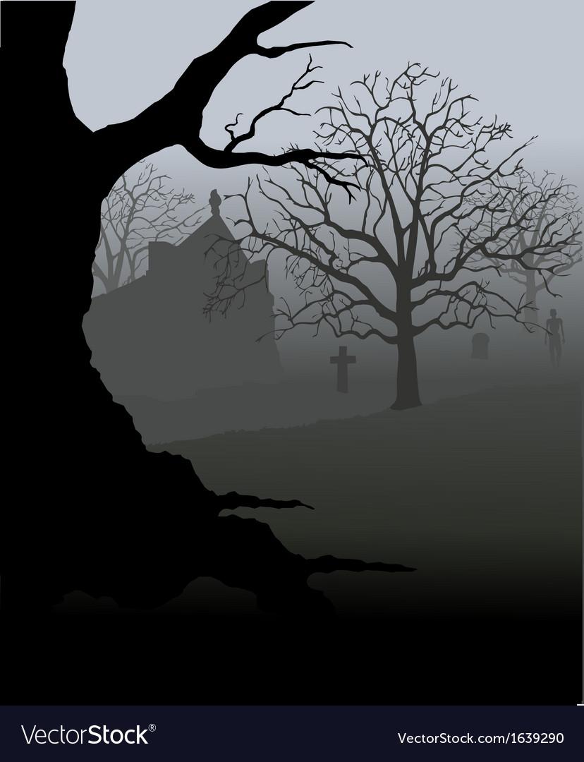 Creepy graveyard vector | Price: 1 Credit (USD $1)