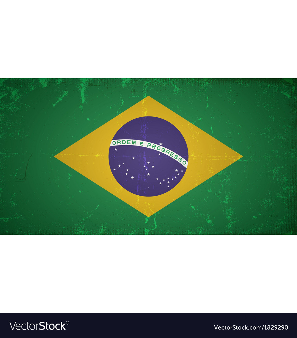 Grunge flags - brazil vector | Price: 1 Credit (USD $1)