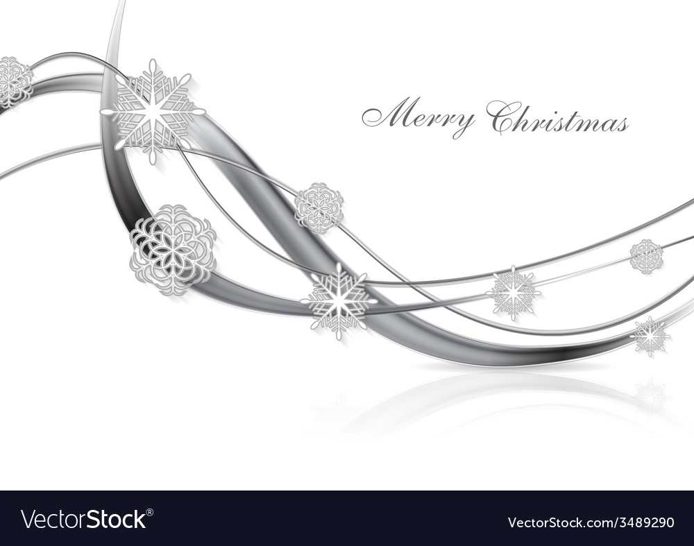 Silver metal abstract christmas background vector | Price: 1 Credit (USD $1)