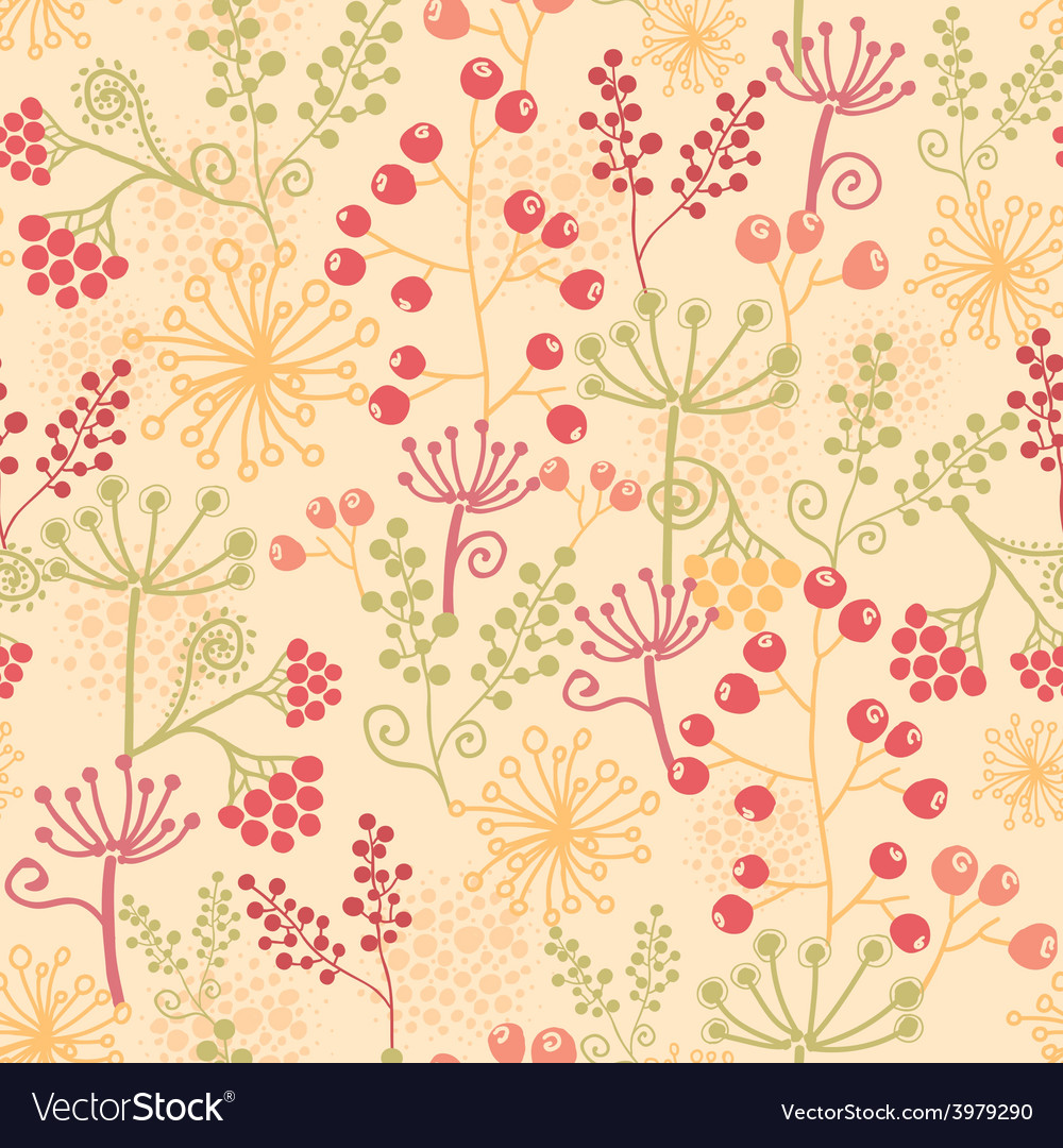 Summer berries seamless pattern background vector | Price: 1 Credit (USD $1)