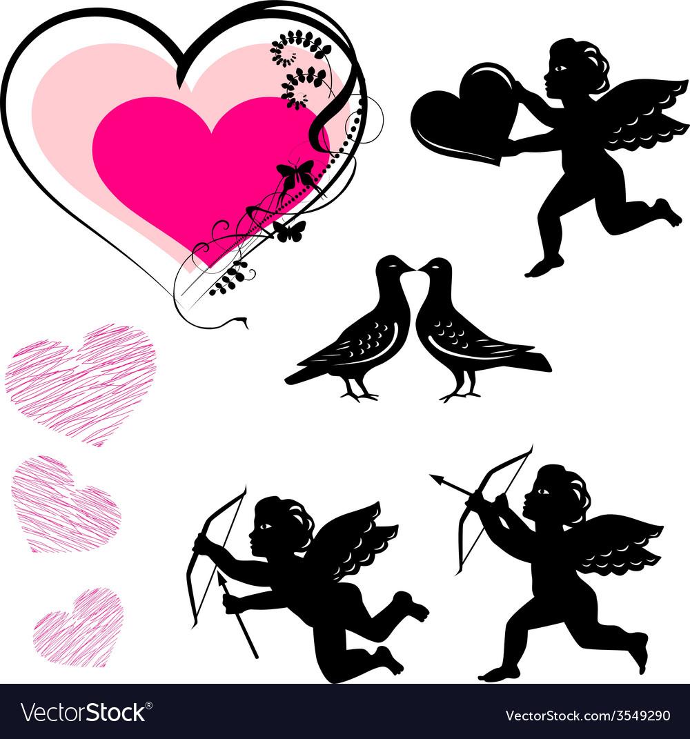 Valentines day symbols set vector   Price: 1 Credit (USD $1)