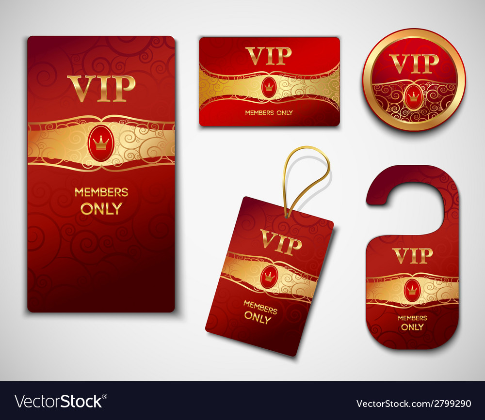 Vip cards design template vector | Price: 1 Credit (USD $1)
