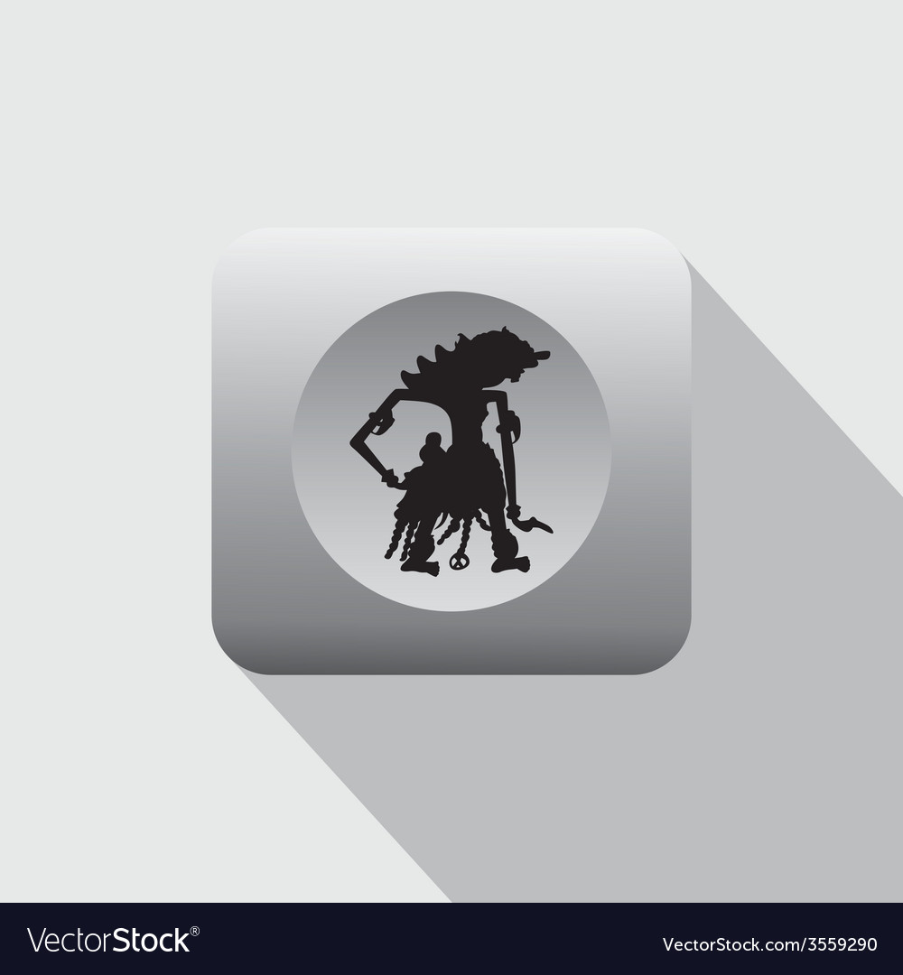 Wayang indonesian culture puppet vector | Price: 1 Credit (USD $1)