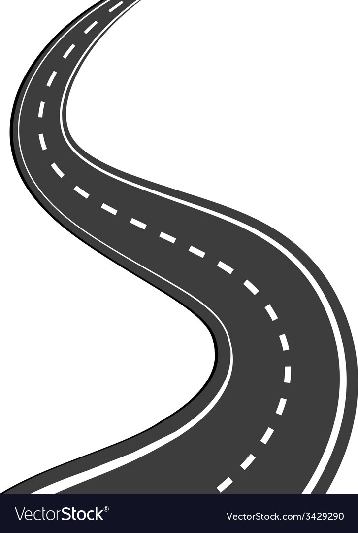 Winding road vector | Price: 1 Credit (USD $1)