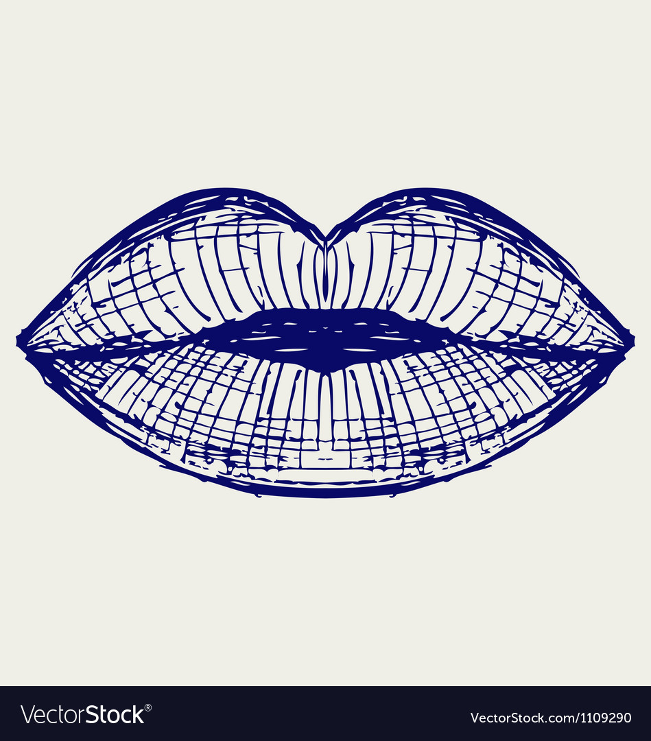 Woman lip mouth kiss vector | Price: 1 Credit (USD $1)