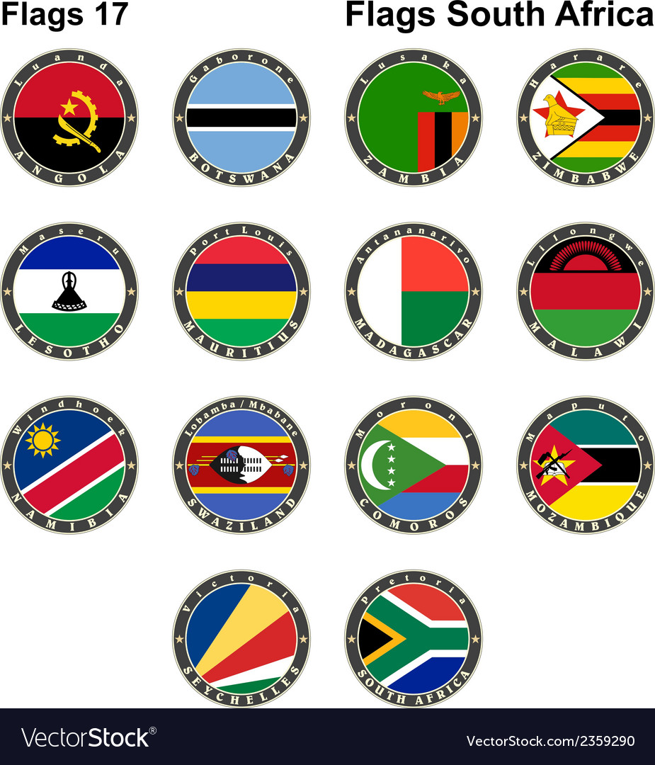 World flags south africa vector | Price: 1 Credit (USD $1)