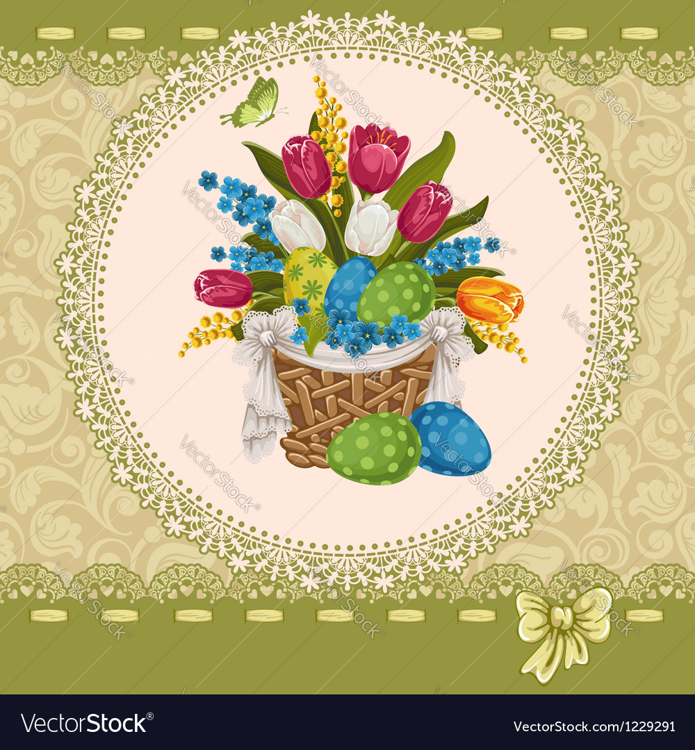 Easter greeting vector | Price: 3 Credit (USD $3)