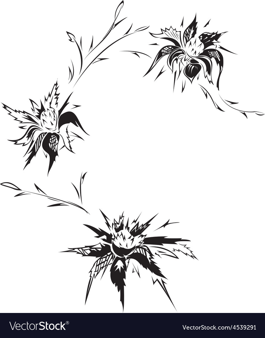 Floral tattoo design vector | Price: 1 Credit (USD $1)