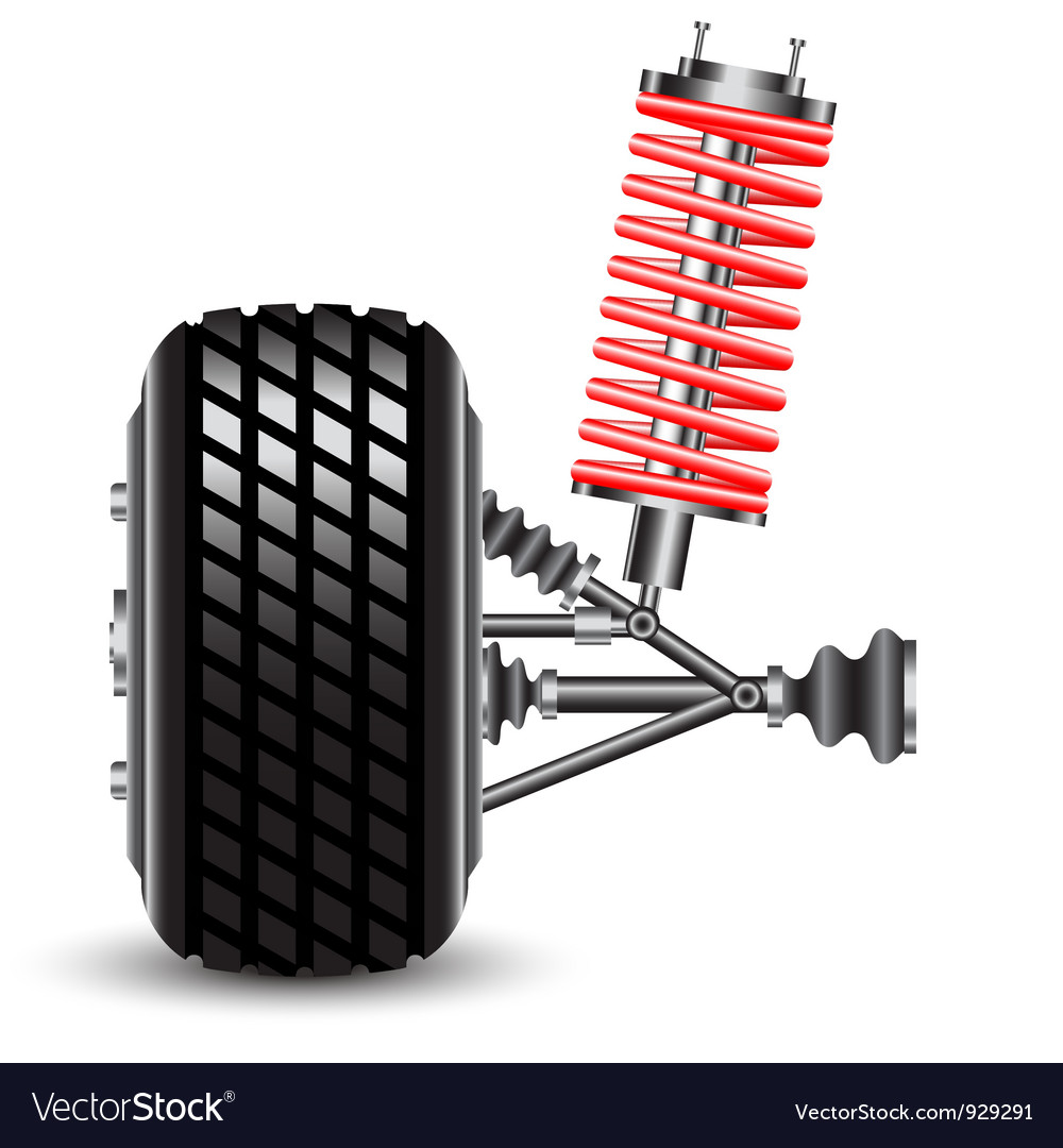 Front car suspension vector | Price: 3 Credit (USD $3)