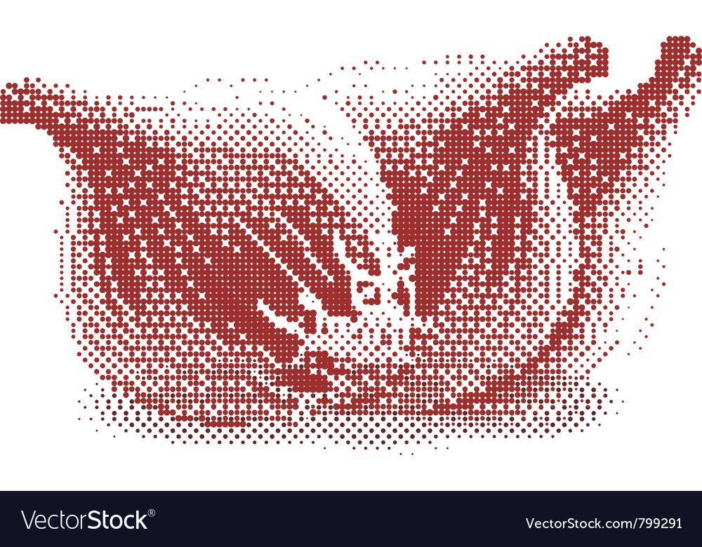 Halftone onions vector | Price: 1 Credit (USD $1)