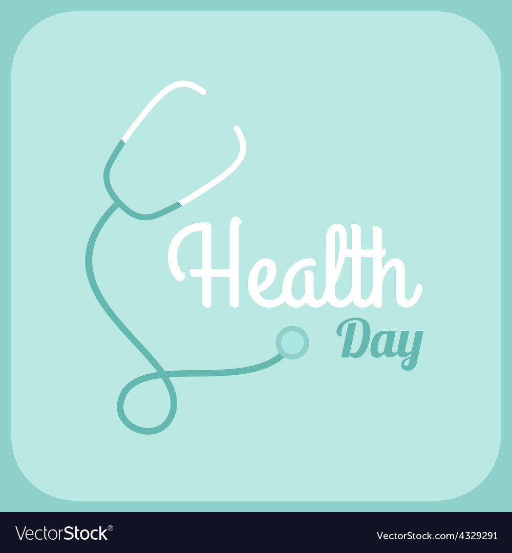 Health day celebrating card or poster design vector | Price: 1 Credit (USD $1)