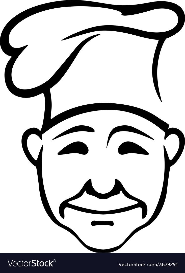 Joyful chef in a high hat vector | Price: 1 Credit (USD $1)