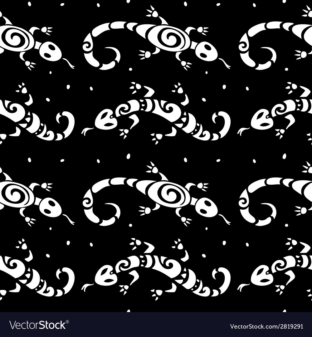 Lizards seamless pattern vector | Price: 1 Credit (USD $1)