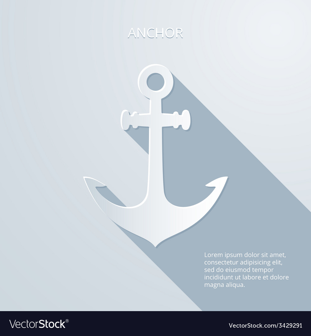 Paper anchor icon vector | Price: 1 Credit (USD $1)