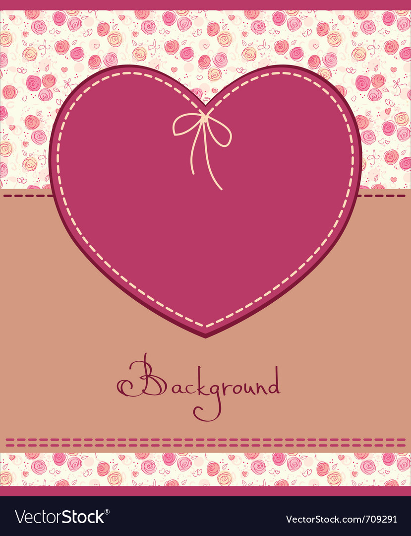 Pink heart textile label vector | Price: 1 Credit (USD $1)