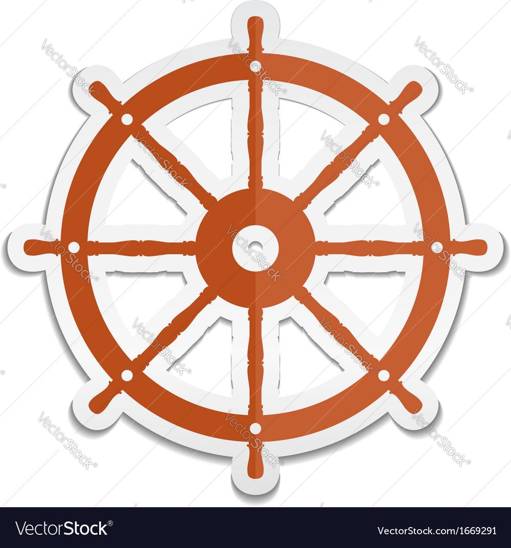 Ship wheel icon vector | Price: 1 Credit (USD $1)