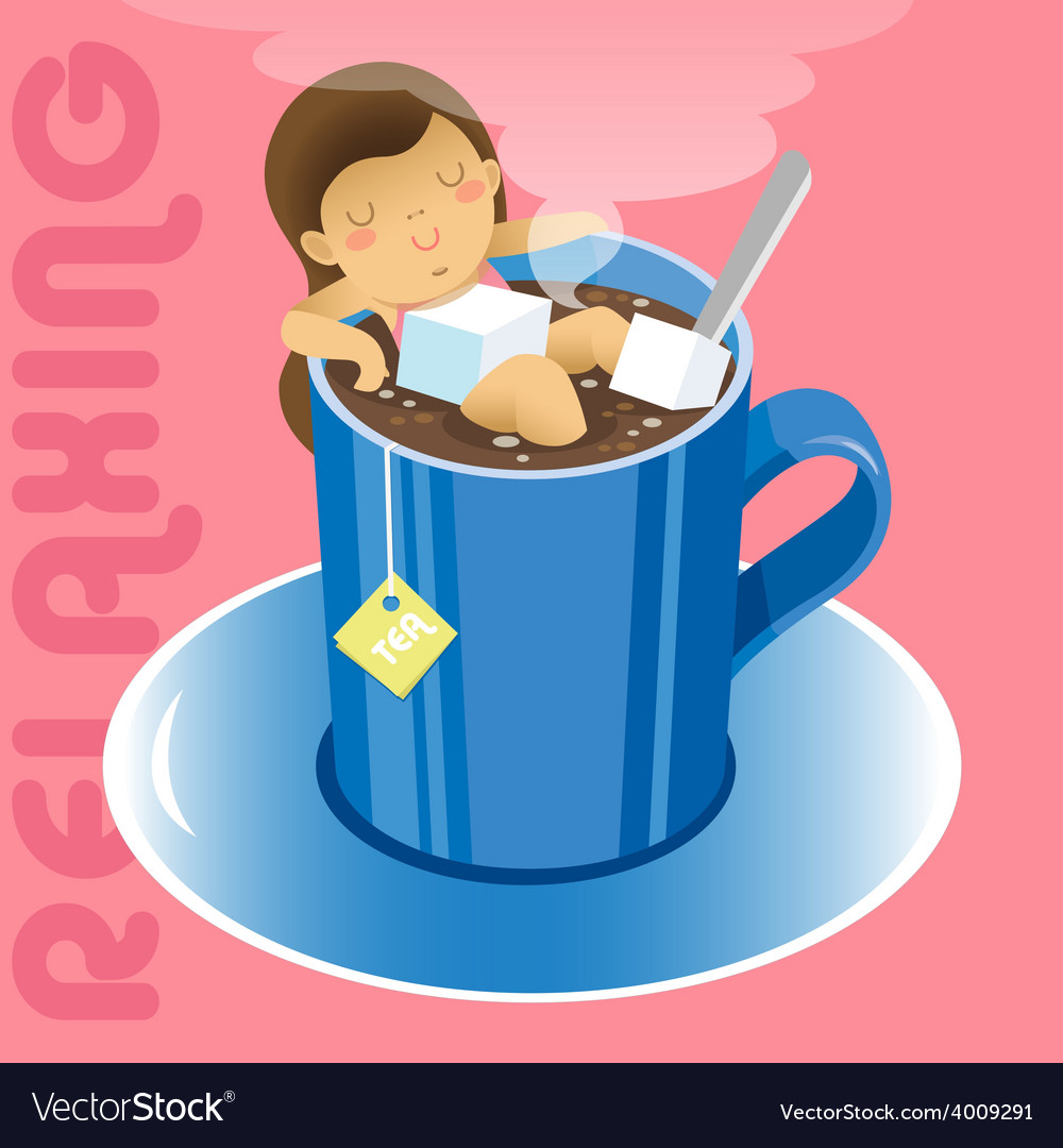 Tea relax vector | Price: 3 Credit (USD $3)