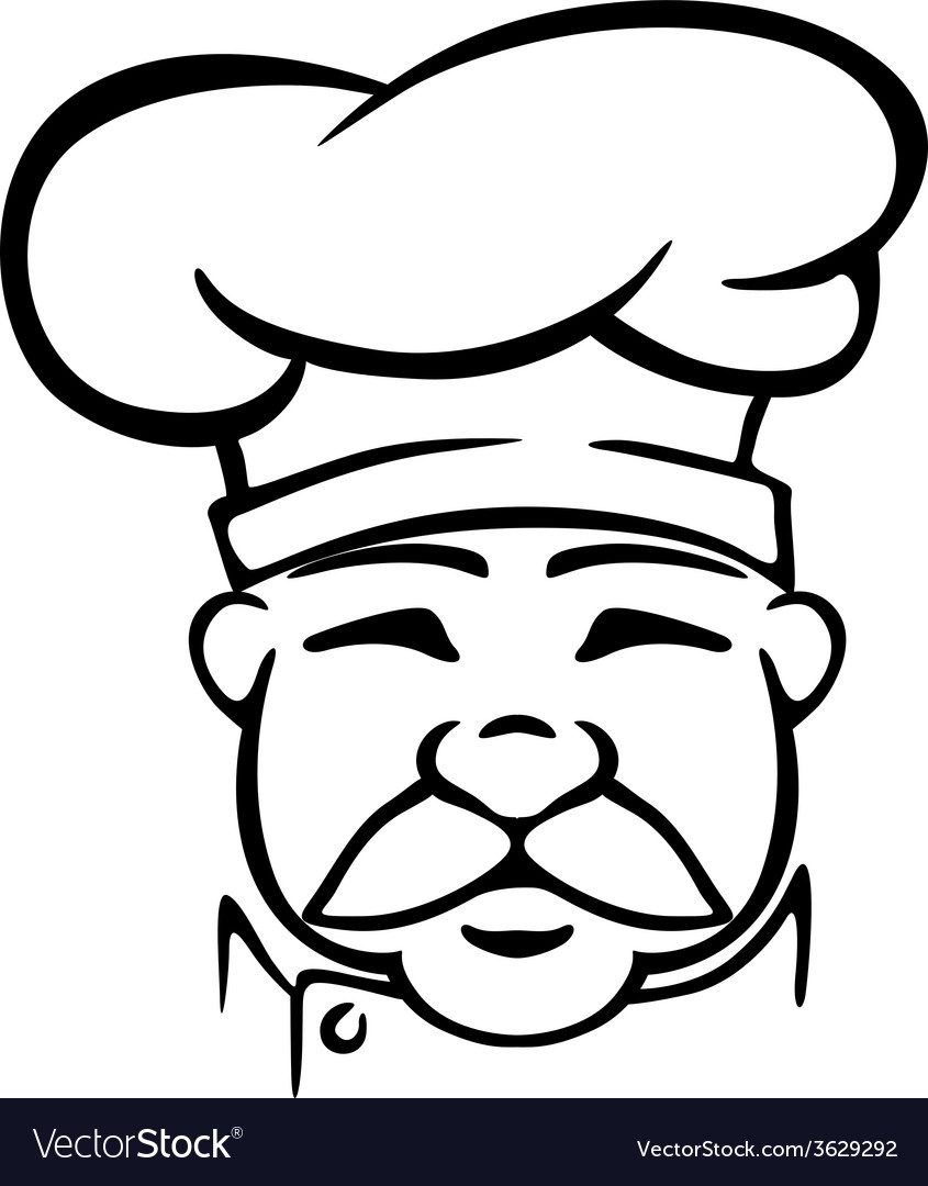 Chef in traditional uniform vector | Price: 1 Credit (USD $1)