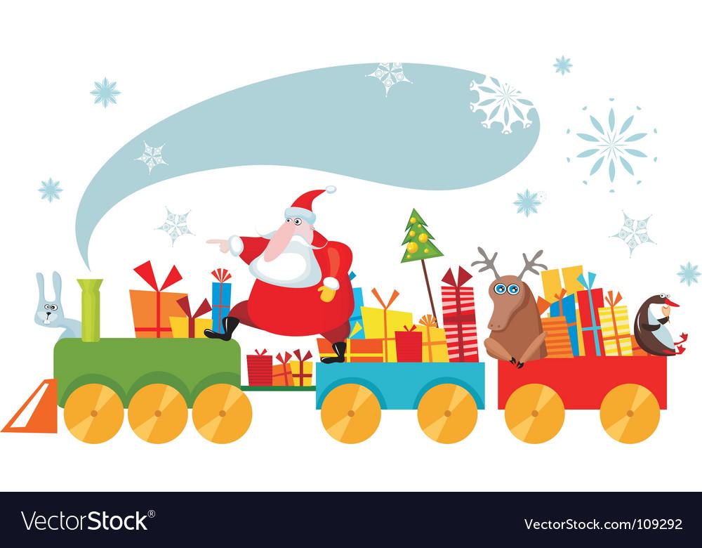 Christmas train vector | Price: 1 Credit (USD $1)