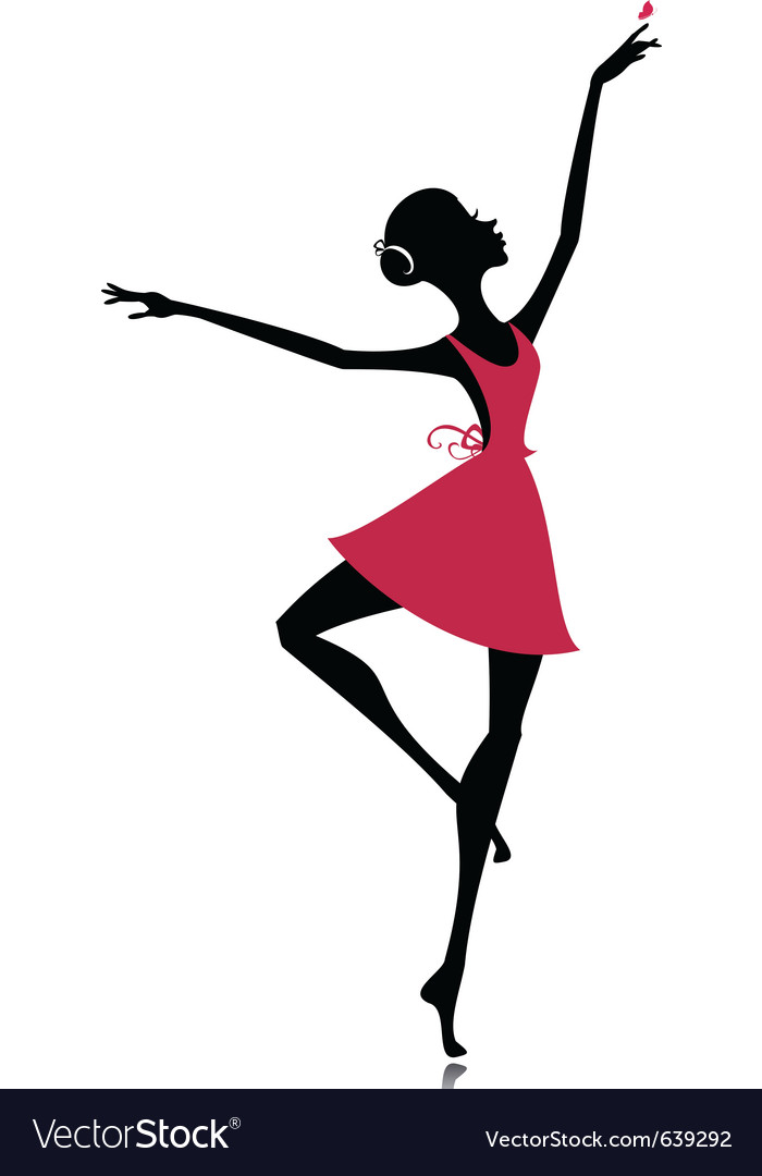 Graceful dancer with a butterfly vector | Price: 1 Credit (USD $1)