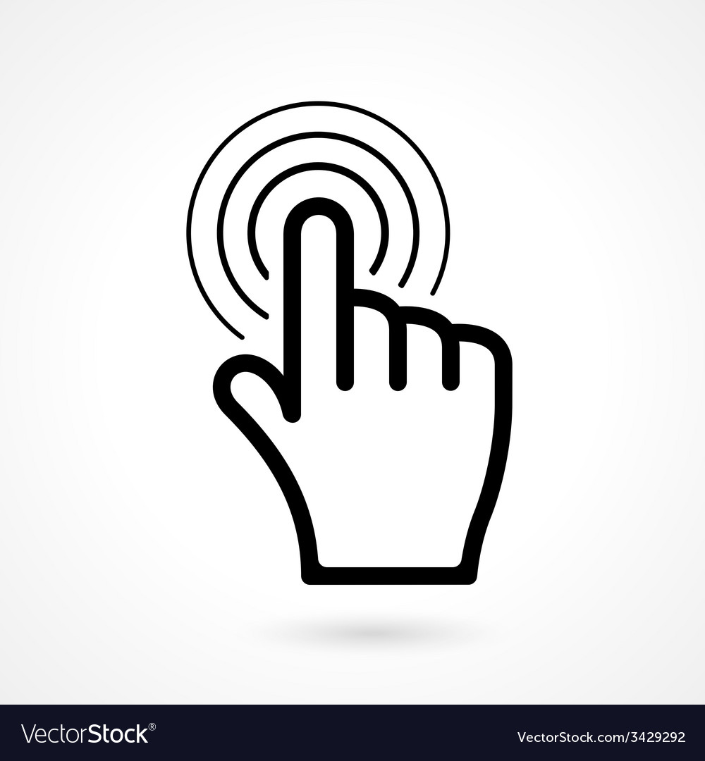 Hand click or pointer icon vector | Price: 1 Credit (USD $1)
