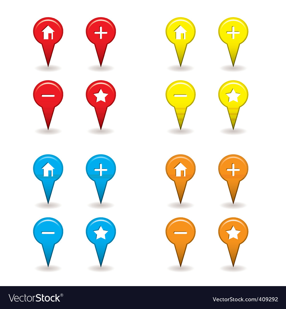 Map pin icon vector | Price: 1 Credit (USD $1)