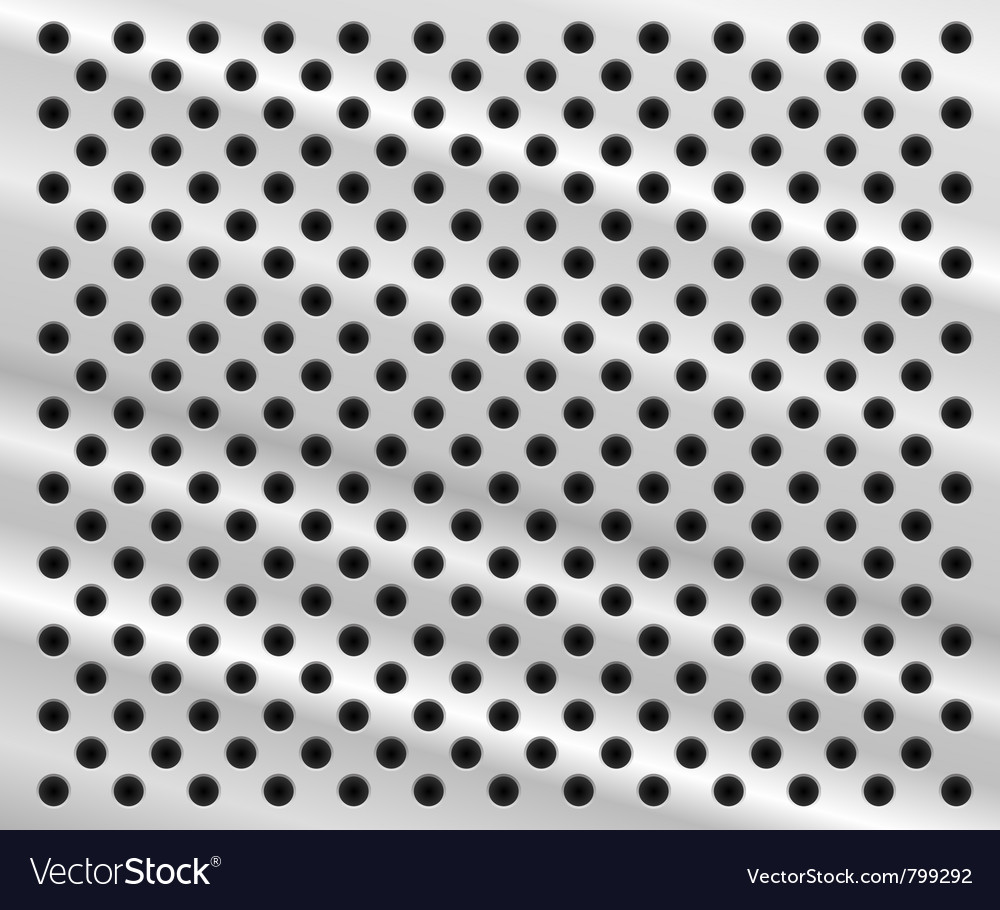 Perforated metal background vector | Price: 1 Credit (USD $1)