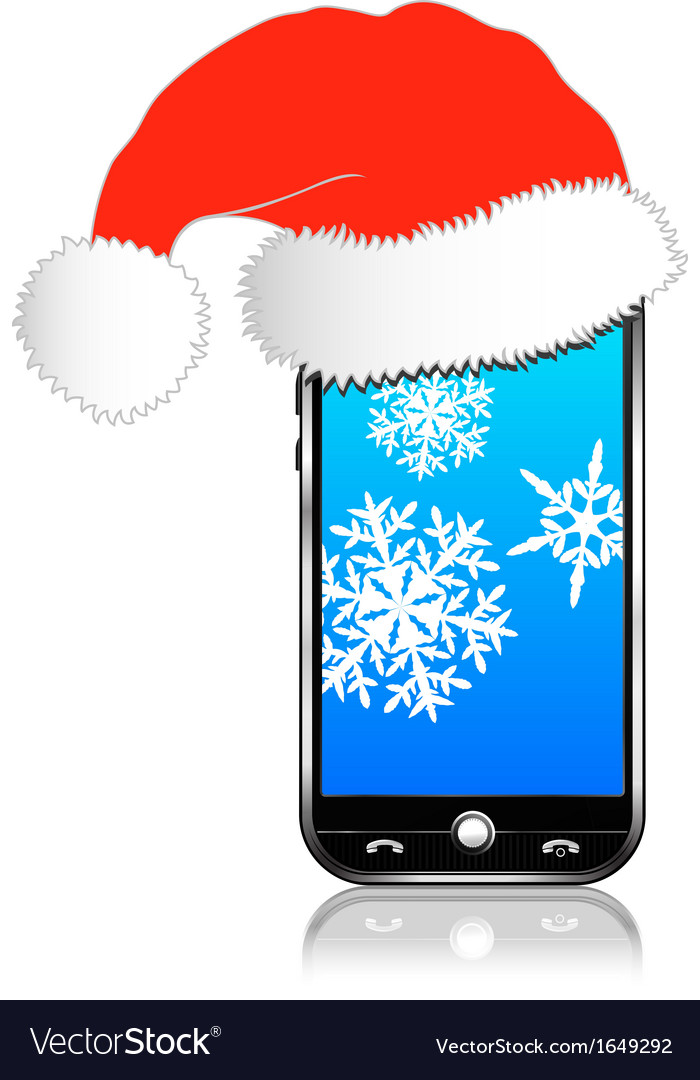 Phone christmas gift vector | Price: 1 Credit (USD $1)