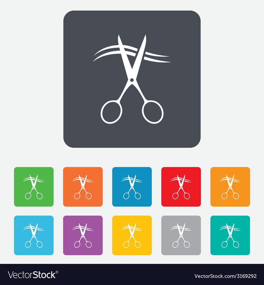 Scissors cut hair sign icon hairdresser symbol vector   Price: 1 Credit (USD $1)