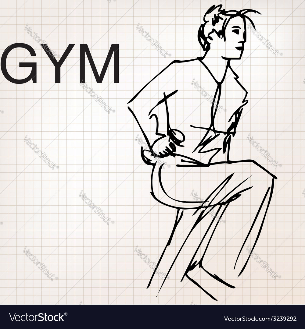 Woman lifting dumbbells at the gym vector   Price: 1 Credit (USD $1)