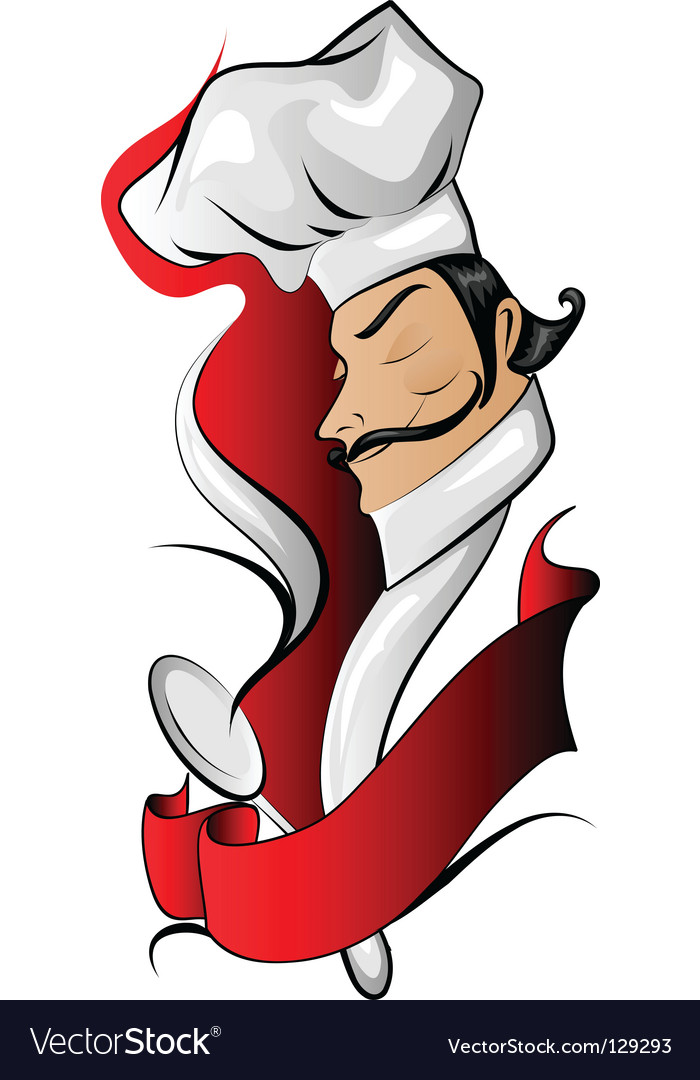 Chef logo with banner vector | Price: 1 Credit (USD $1)