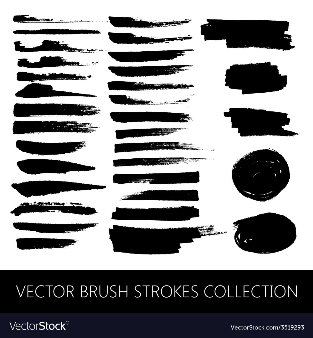 Collection of brush strokes and marker stains vector | Price: 1 Credit (USD $1)