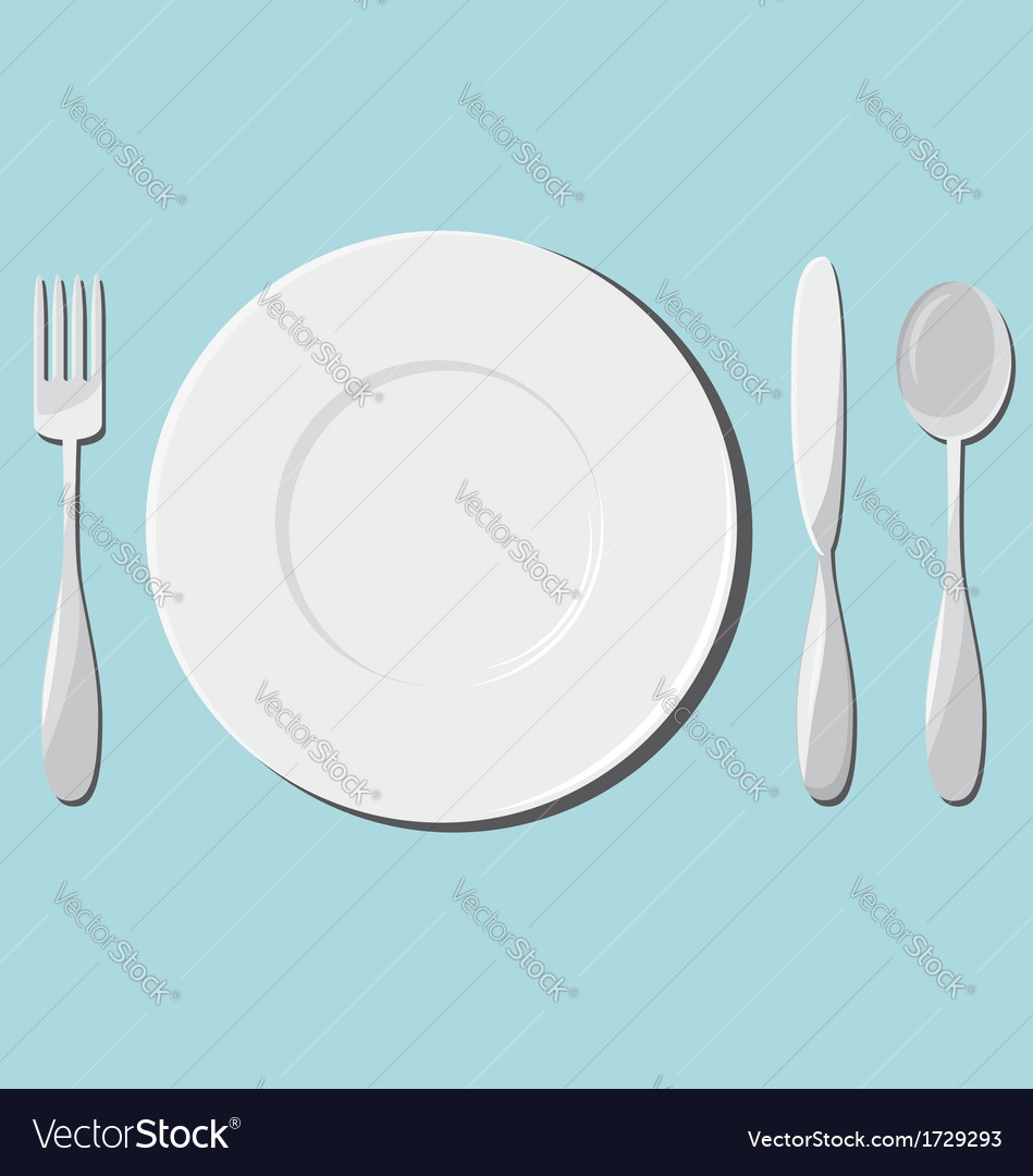 Dishes and cutlery vector | Price: 1 Credit (USD $1)