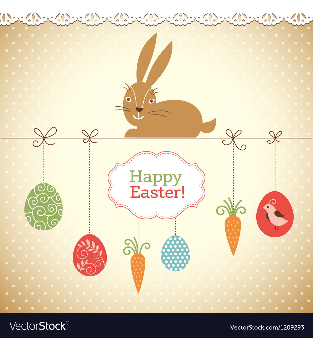 Easter greeting card vector | Price: 3 Credit (USD $3)