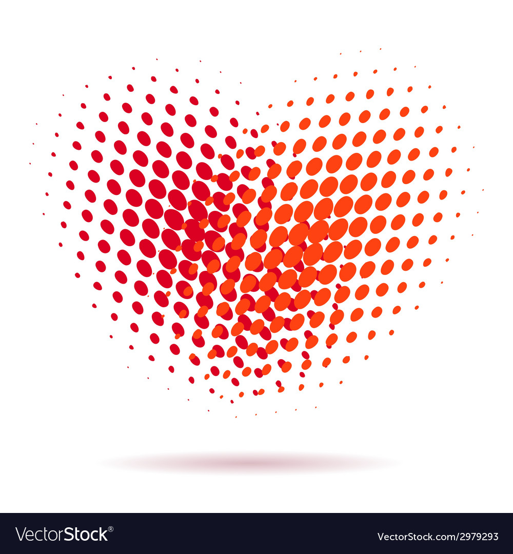 Heart spotted pattern isolated vector | Price: 1 Credit (USD $1)