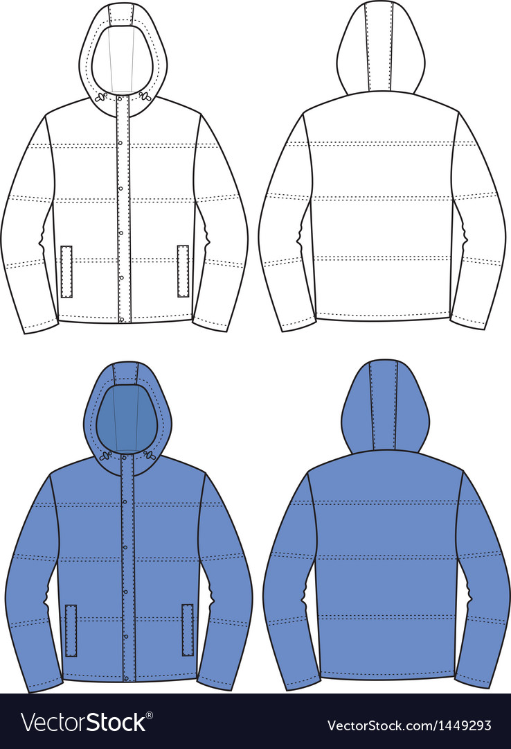 Hooded jacket vector | Price: 1 Credit (USD $1)