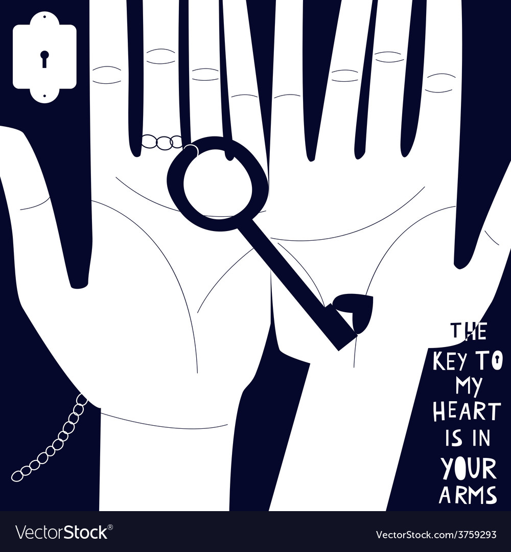 Key to my heart is in your arms vector | Price: 1 Credit (USD $1)