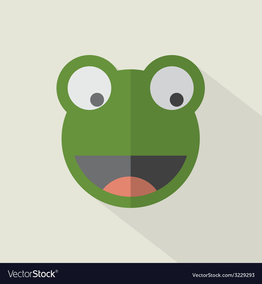 Modern flat design frog icon vector | Price: 1 Credit (USD $1)