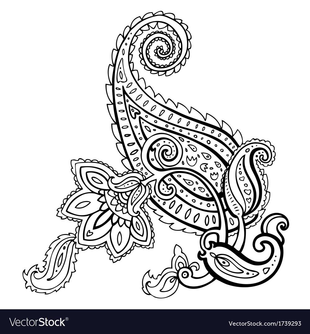 Paisley ethnic ornament vector | Price: 1 Credit (USD $1)