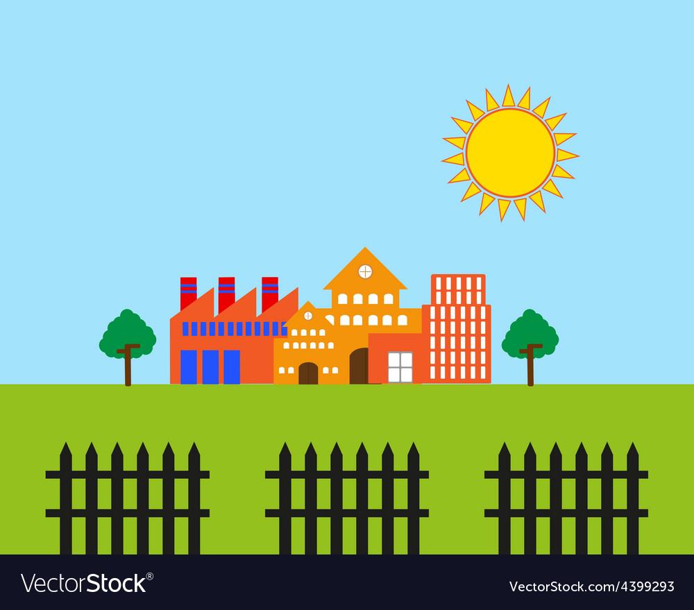 Real estate landscape vector   Price: 3 Credit (USD $3)