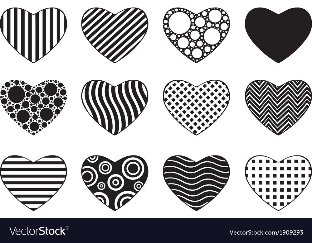 Set of different hearts vector | Price: 1 Credit (USD $1)