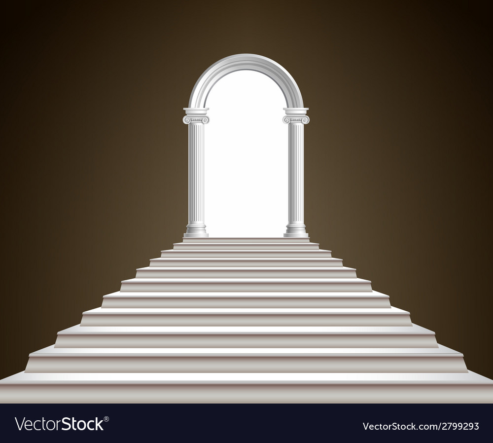 Staircase and arch vector | Price: 1 Credit (USD $1)