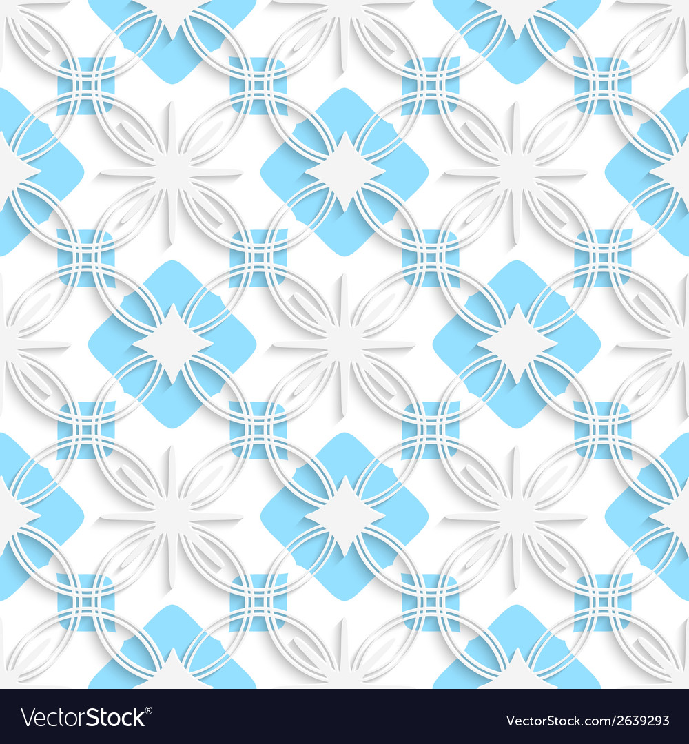 White detailed ornament layered on flat blue vector   Price: 1 Credit (USD $1)