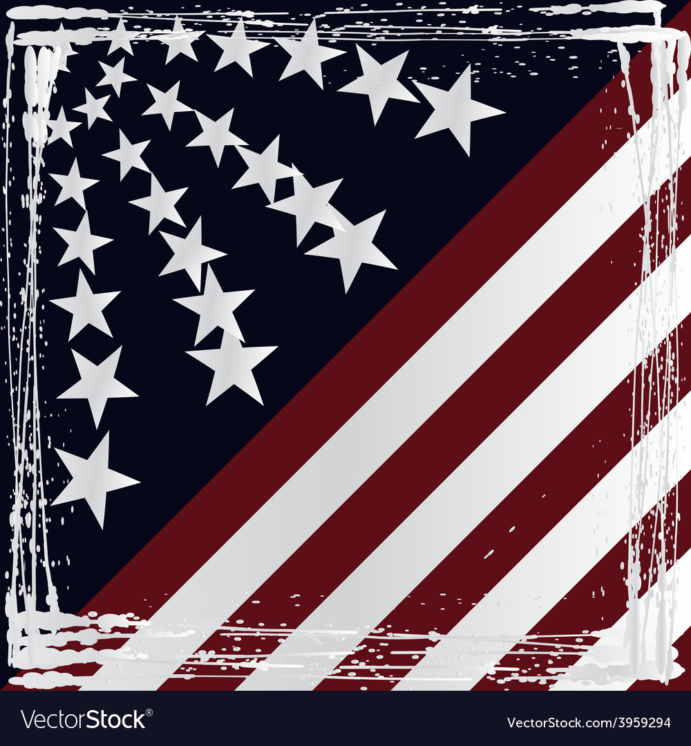 American flag grunge style vector | Price: 1 Credit (USD $1)