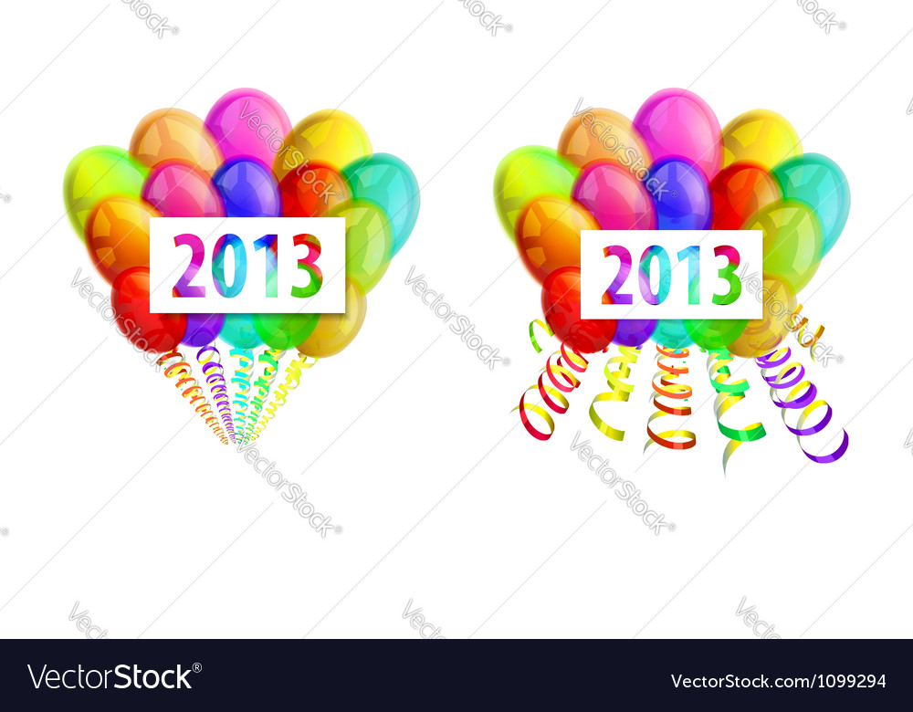 Balloons 2013 vector | Price: 1 Credit (USD $1)